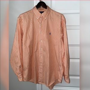 Ralph Lauren long sleeve button dress shirt stripe